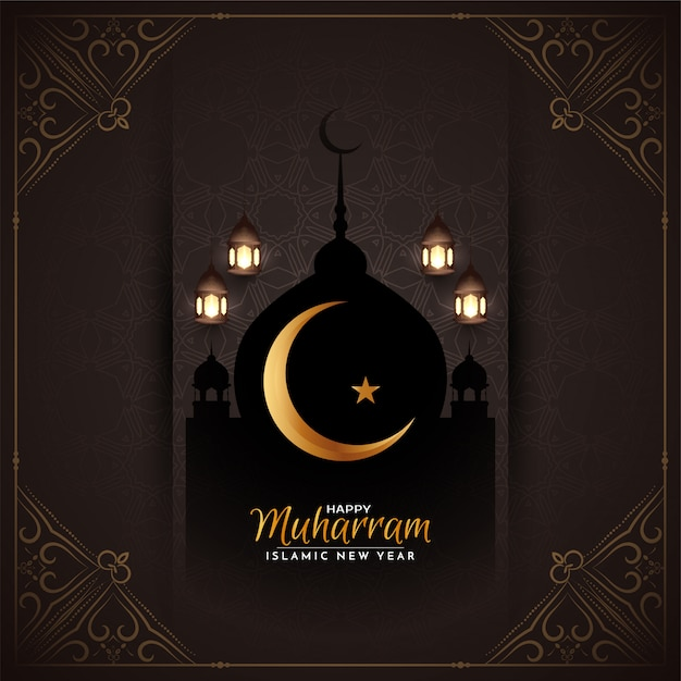 Streszczenie Etniczne Szczęśliwy Muharrama Islamski Darmowych Wektorów
