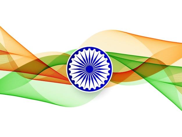 Streszczenie Falisty Flaga Indii Wzór Tła Wektor Darmowych Wektorów