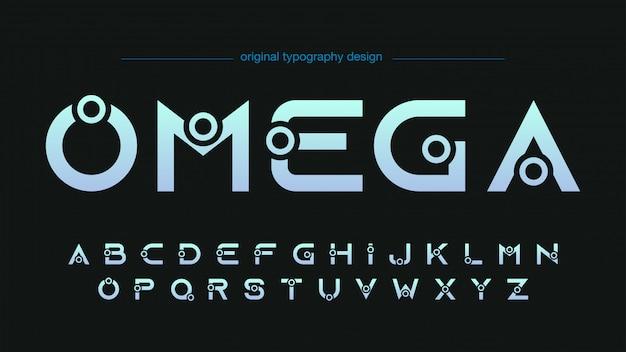 Streszczenie futurystyczny niestandardowy projekt typografii Premium Wektorów