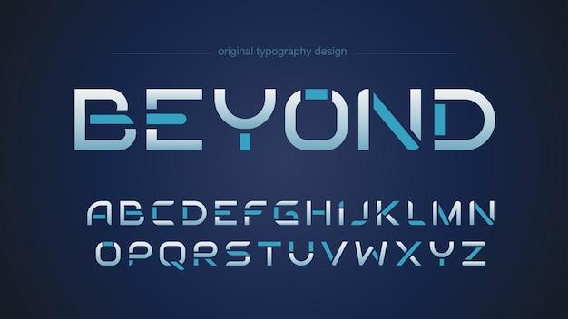 Streszczenie Futurystyczny Projekt Typografii Sportowej Premium Wektorów