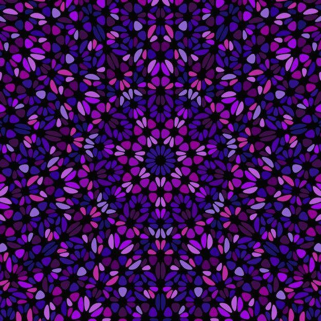 Streszczenie Geometryczne Kolorowy Kwiat Mozaiki Premium Wektorów