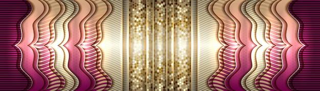 Streszczenie Gładkie Na Gradientowe Fioletowe I Złote Rozmycie Tła Wzór Premium Wektorów