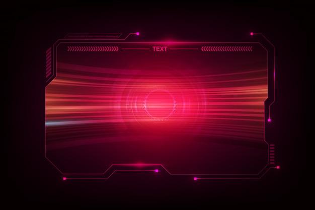 Streszczenie Hud Ui Gui Przyszłość Futurystyczny Ekran System Wirtualny Projekt Premium Wektorów