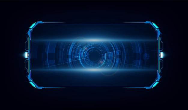 Streszczenie hud ui gui przyszłości futurystyczny system ekranów wirtualnych Premium Wektorów