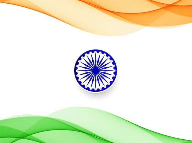 Streszczenie indyjski flaga falisty wzór tła Premium Wektorów