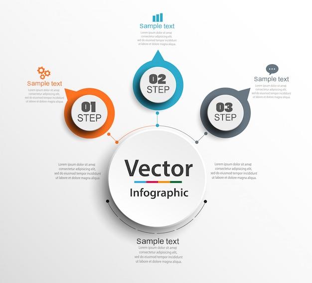 Streszczenie Infografiki Numer Opcji Szablon Premium Wektorów