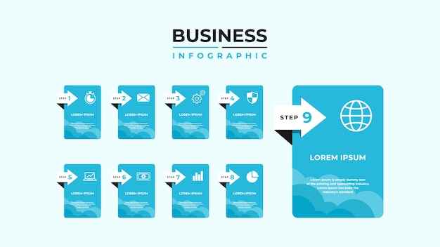 Streszczenie infografiki numer opcji szablon. Premium Wektorów