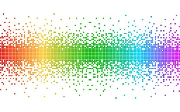 Streszczenie Kolorowe Piksele Premium Wektorów
