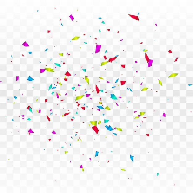 Streszczenie kolorowy konfetti na białym tle Darmowych Wektorów