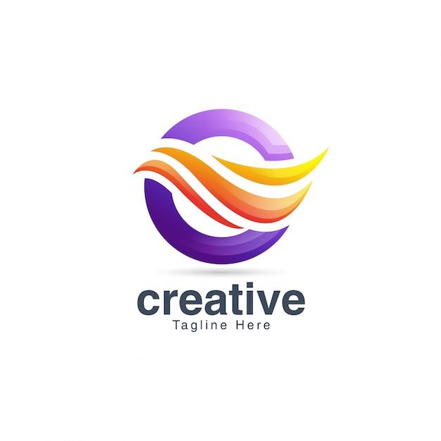 Streszczenie kreatywny żywy list o logo szablon projektu Premium Wektorów