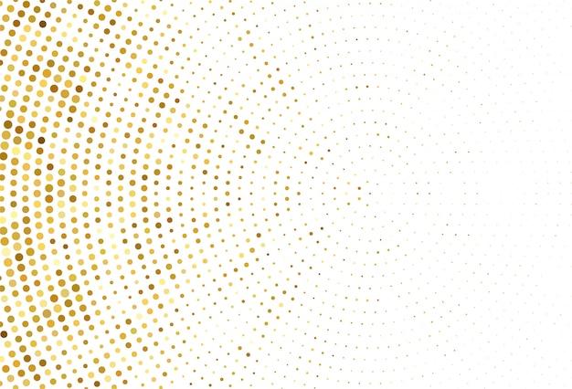 Streszczenie Kropkowane Złote Tło Wzór Darmowych Wektorów