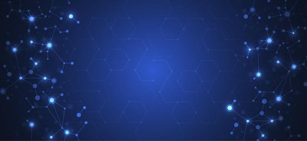 Streszczenie łączące kropki i linie Premium Wektorów