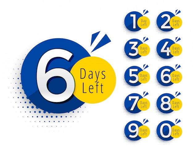 Streszczenie liczba dni pozostałego projektu symbolu Darmowych Wektorów