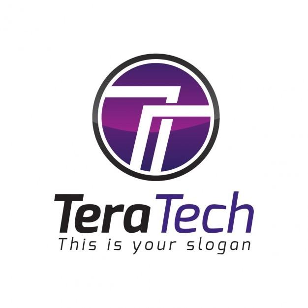 Streszczenie List Okólny T Logo Darmowych Wektorów