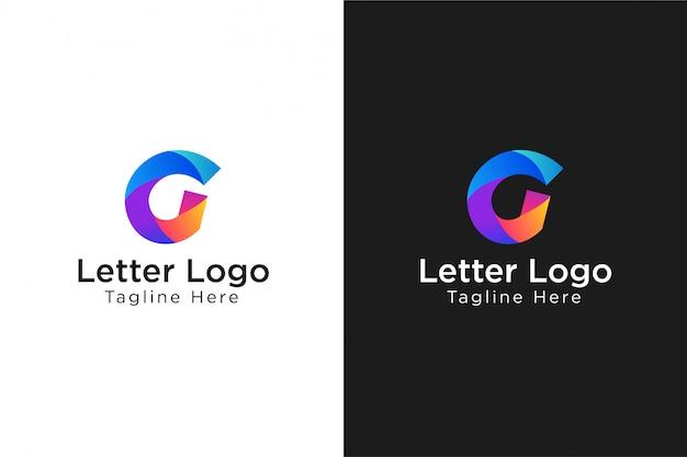 Streszczenie Listu Logo G Premium Wektorów