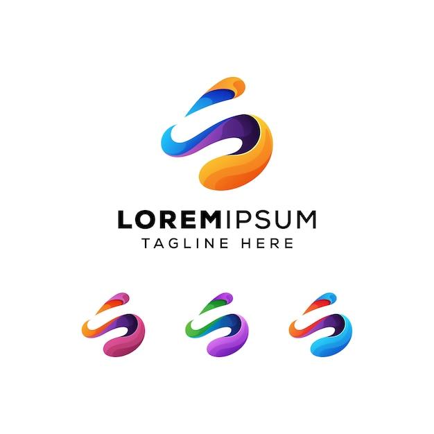 Streszczenie litera s zi koncepcja logo premium wektor Premium Wektorów