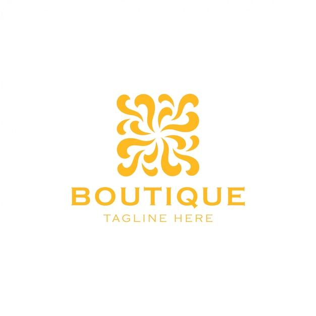 Streszczenie logo piękna Premium Wektorów