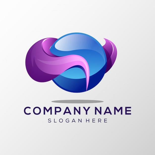 Streszczenie logo płaskie Premium Wektorów