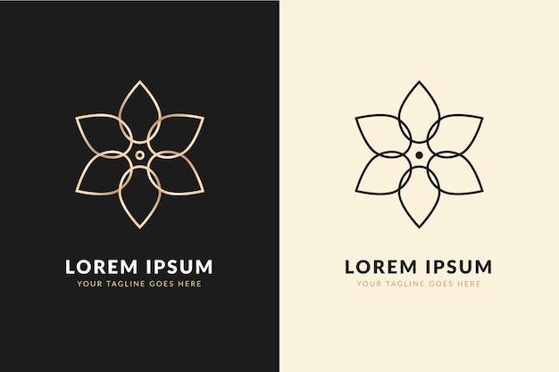 Streszczenie Logo W Dwóch Wersjach Darmowych Wektorów