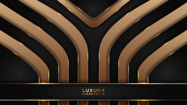 Streszczenie Luksusowe Czarne I Złote Tło Premium Wektorów