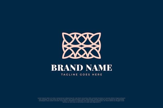 Streszczenie Luksusowe Logo Z Linią Premium Wektorów