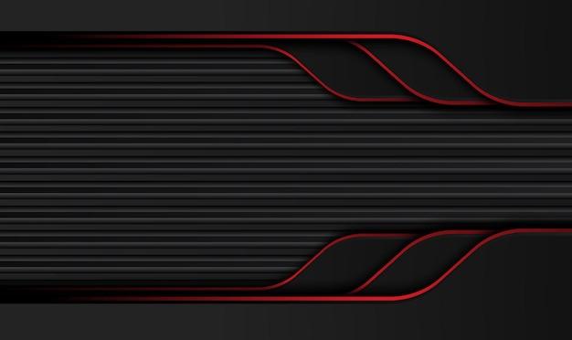 Streszczenie Metaliczny Czerwony Czarny Układ Ramka Koncepcja Projektowania Technologii Innowacji Premium Wektorów