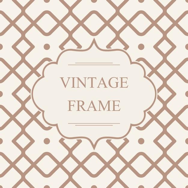 Streszczenie Monochromatyczne Ramki Vintage Szablon Na Geometryczny Wzór Z Przecinającymi Się Rombami W Stylu Kalejdoskopu Darmowych Wektorów