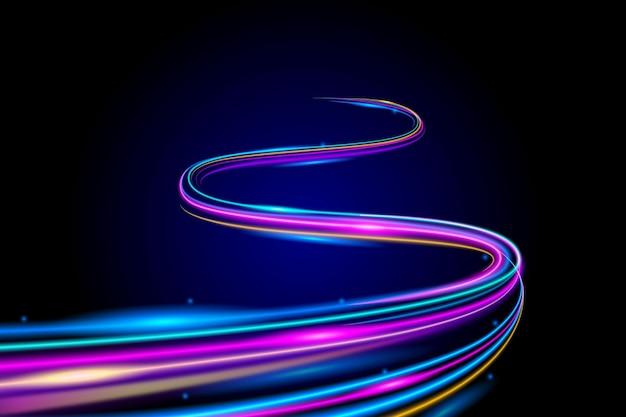 Streszczenie Neonowe Motywy Tapety Darmowych Wektorów