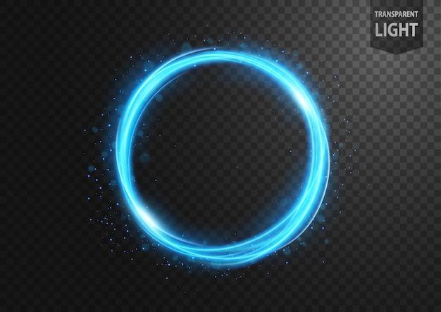 Streszczenie niebieska linia światła z niebieskim iskry Premium Wektorów