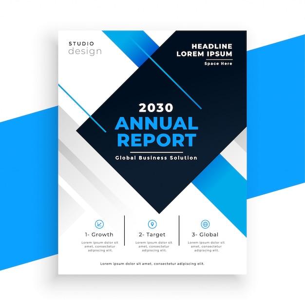 Streszczenie Niebieski Roczne Sprawozdanie Busienss Ulotki Szablon Projektu Darmowych Wektorów
