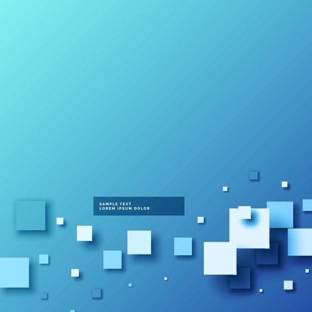 Streszczenie niebieskim backgorund z 3d mozaiki kształtów Darmowych Wektorów