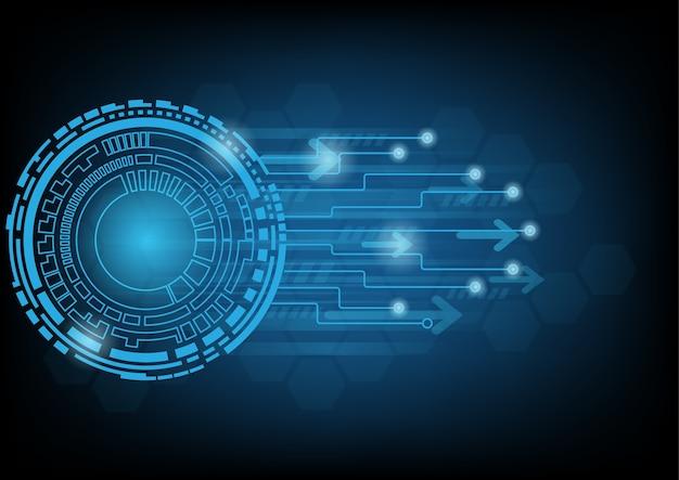 Streszczenie Niebieskim Tle Technologii Premium Wektorów