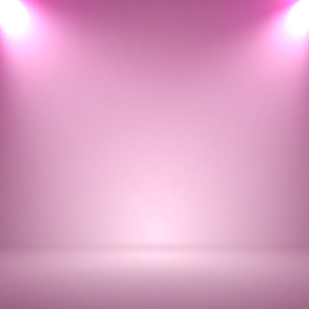 Streszczenie Niewyraźne Gładki Różowy Kolor Studio Tło Z Reflektorów Do Prezentacji Premium Wektorów