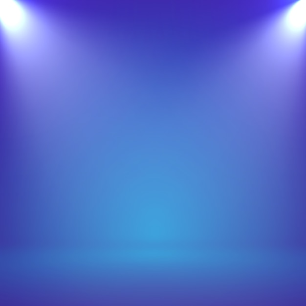 Streszczenie Niewyraźne Gładkie Studio Kolor Niebieski Tło Z Reflektorem Dla Prezentacji Premium Wektorów