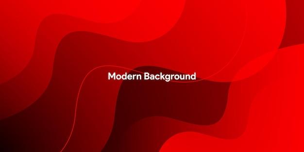 Streszczenie Nowoczesne Kolorowe Gradientowe Czerwone Tło Krzywej Premium Wektorów