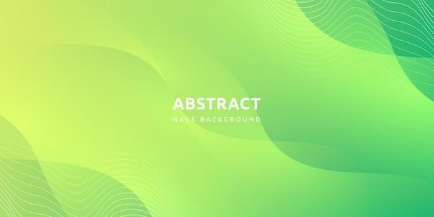 Streszczenie Nowoczesne Kolorowe Gradientowe Zielone Tło Krzywej Premium Wektorów