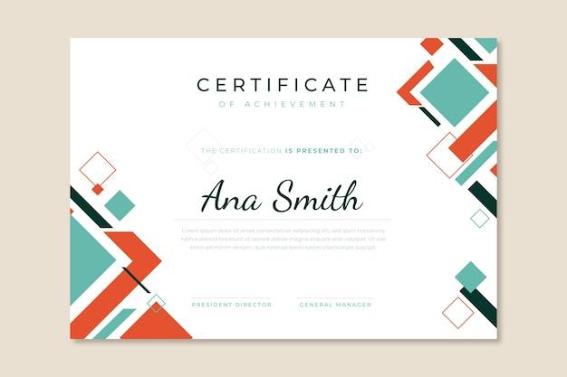 Streszczenie Nowoczesny Certyfikat Geometryczny Darmowych Wektorów