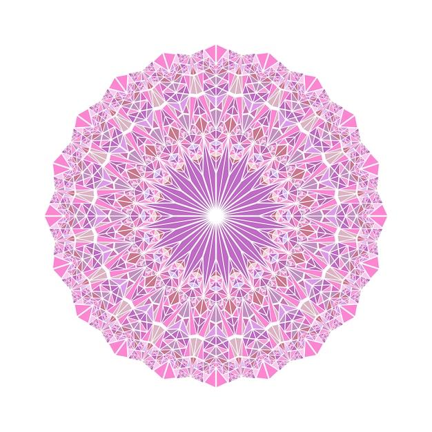 Streszczenie Okrągłe Mozaiki Geometrycznej Trójkąt Wzór Mandali Premium Wektorów