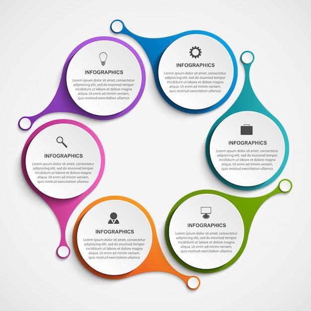 Streszczenie opcje infografiki szablon. Premium Wektorów