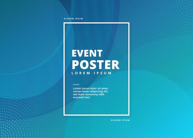 Streszczenie plakatu wydarzenia Darmowych Wektorów