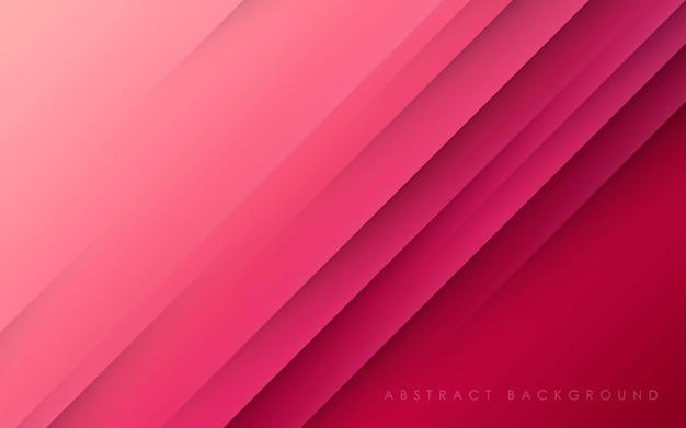 Streszczenie Przekątnej Różowy Tło Papercut Premium Wektorów