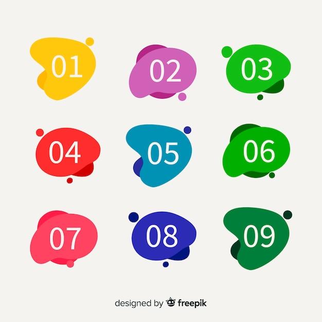 Streszczenie punkt kolekcja kolorowy pocisk Darmowych Wektorów