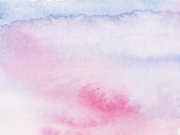 Streszczenie Różowe Fioletowe Tło Akwarela. To Jest Wyciągnięta Ręka. Premium Wektorów