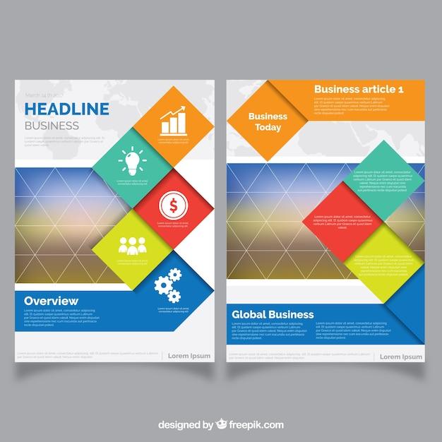 Streszczenie streszczenie broszury firmowej Darmowych Wektorów