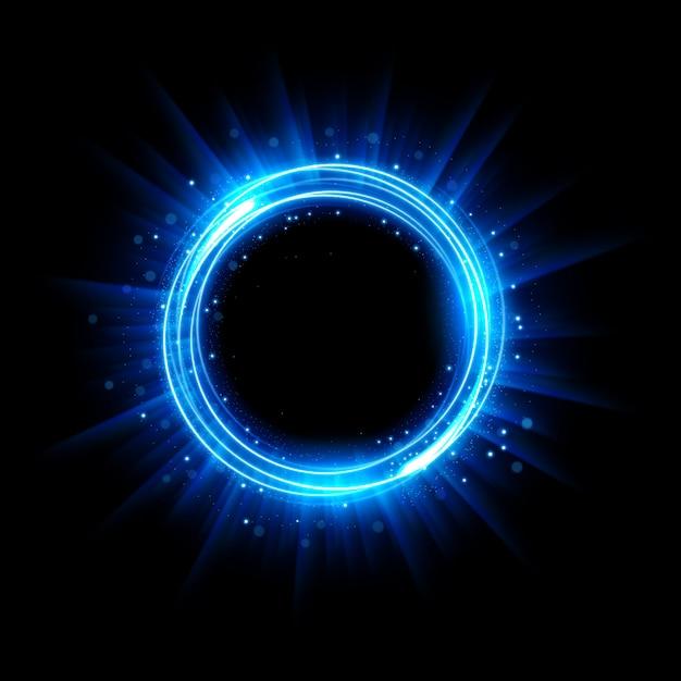 Streszczenie świecące Koło Elegancki Podświetlany Pierścień świetlny Premium Wektorów