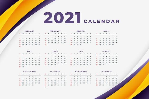 Streszczenie Szablon Nowoczesny Kalendarz Nowego Roku Darmowych Wektorów