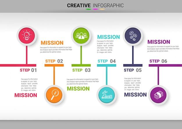 Streszczenie szablon opcje liczby infografiki z 4 krokami. ilustracji wektorowych. Premium Wektorów