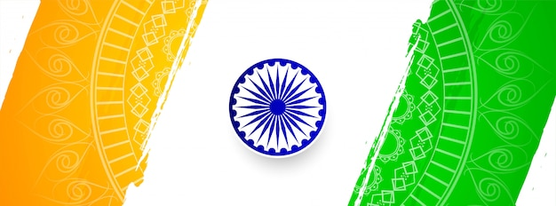 Streszczenie szablon transparent elegancki baner tematu indian Premium Wektorów