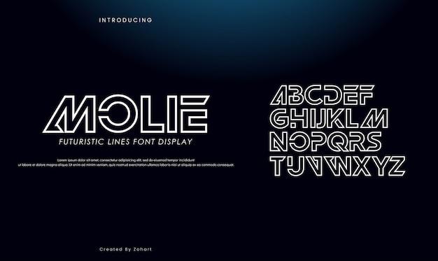 Streszczenie Szeryfowe Złote Litery Alfabetu. Premium Wektorów