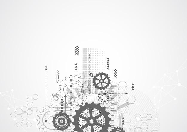 Streszczenie Technologia Komunikacji Innowacji Projekt Koncepcji Premium Wektorów